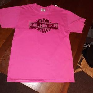 Pink vintage Harley Davidson tshirt